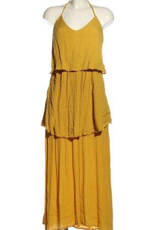 Asos Sukienka z falbanami jasny pomarańczowy Wiskoza