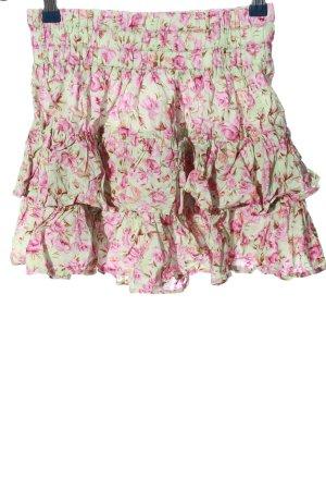 Asos Spódnica z falbanami zielony-różowy Na całej powierzchni