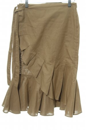 Asos Flounce Skirt light brown simple style