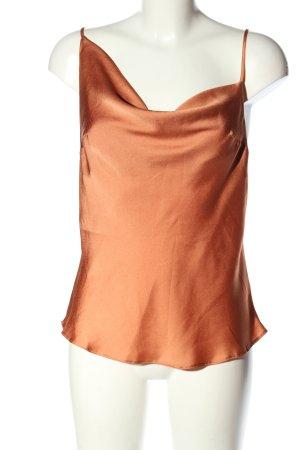 Asos Cowl-Neck Top brown elegant