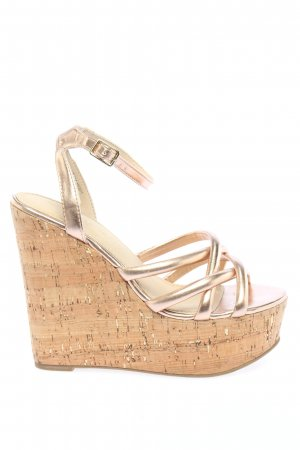 Asos Wedge Sandals gold-colored elegant