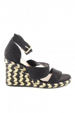 Asos Wedges Sandaletten schwarz-blassgelb Business-Look
