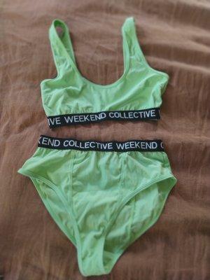 Asos Weekend Collective Unterwäsche Bustier Highwaist Slip