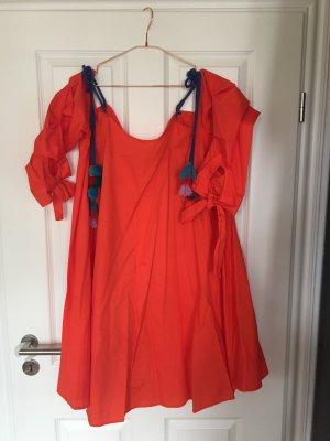 Asos weit ausgestelltes A-Linien Kleid neu mit Pompoms