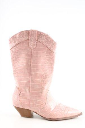 Asos Western-Stiefeletten wollweiß Casual-Look