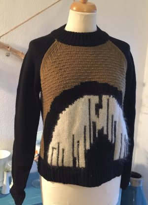 Asos White Pull en laine multicolore