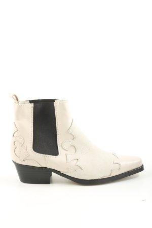 Asos White Western-Stiefeletten weiß-schwarz Casual-Look