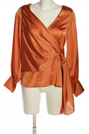 Asos Wickel-Bluse hellorange Business-Look