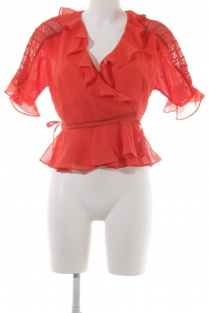 Asos Wickel-Bluse rot Casual-Look