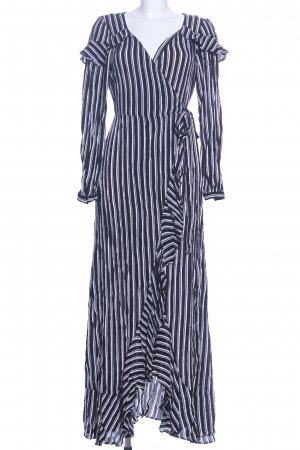 Asos Robe portefeuille bleu-blanc motif rayé élégant