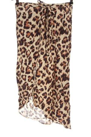 Asos Kopertowa spódnica kremowy-brązowy Na całej powierzchni W stylu casual