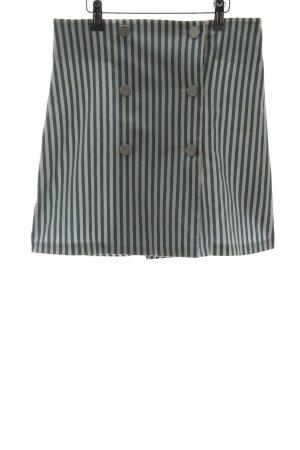 Asos Wraparound Skirt cornflower blue-white striped pattern casual look