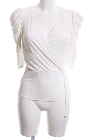 Asos Camisa cruzada blanco look casual