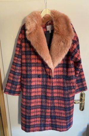 Asos Wool Coat multicolored wool