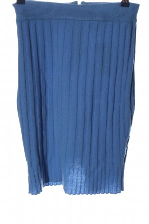 Asos Wollrock blau Streifenmuster Casual-Look