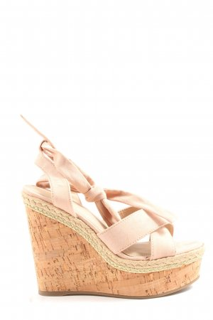 Asos Wedges Sandaletten creme Casual-Look