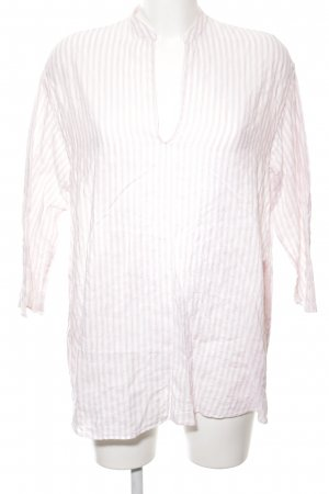 Aspesi Long Sleeve Blouse white-pink striped pattern casual look