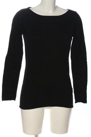 Aspesi Koszulka z długim rękawem czarny W stylu casual