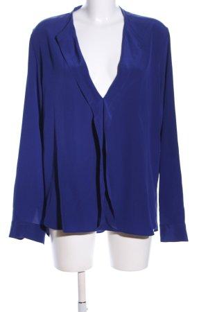 Aspesi Bluzka z kokardą niebieski Elegancki