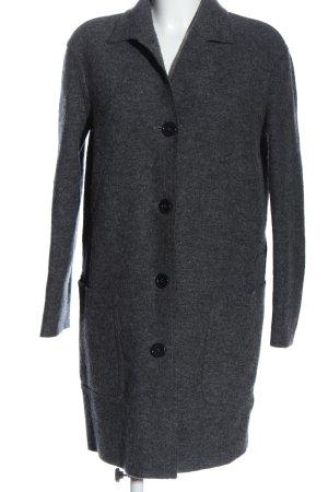 Aspesi Between-Seasons-Coat light grey flecked casual look