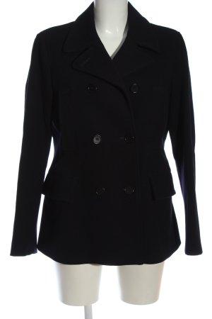 Aspesi Wełniany płaszcz czarny W stylu casual