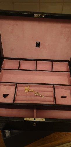 Aspinal of London Valigia nero-color oro rosa