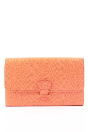 Aspinal of London Borsa clutch arancione chiaro motivo animale