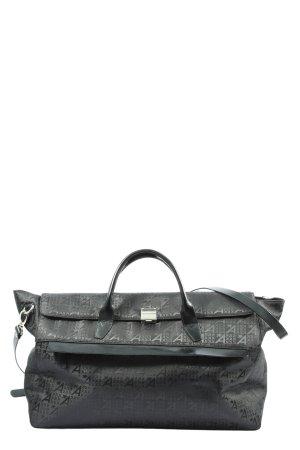 Assima Travel Bag black printed lettering casual look