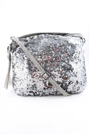 Assima Shoulder Bag silver-colored elegant