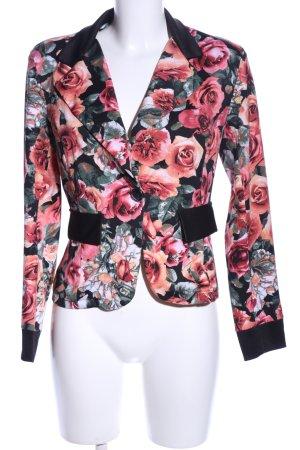 Assuili Kurz-Blazer Blumenmuster Casual-Look
