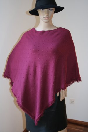 Finery Knitted Poncho bordeaux