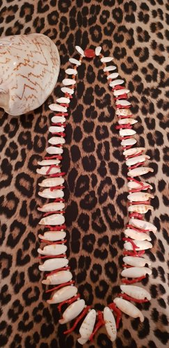 Shell Necklace orange-cream