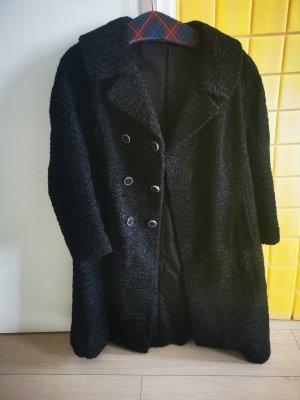 / Manteau de fourrure noir fourrure