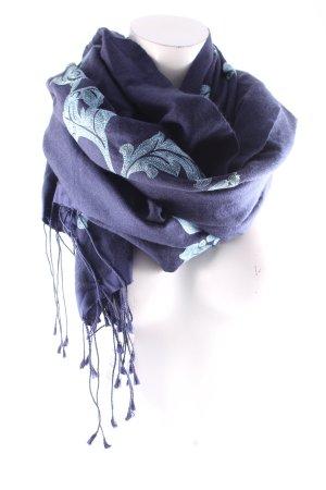 Astrid Peller Pashmina dark blue classic style