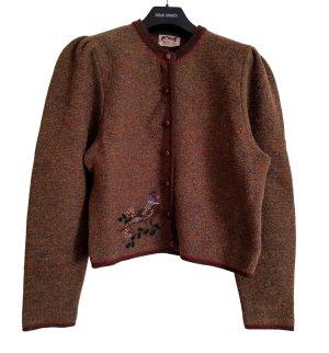 Astrifa Trachtenjacke bronzefarben meliert Casual-Look
