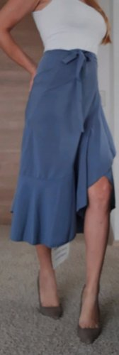 Chicwish Gonna asimmetrica azzurro