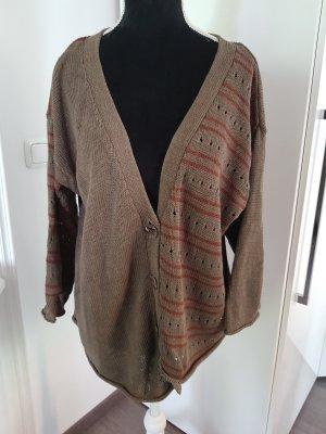 Gudrun Sjöden Cardigan grey brown-dark red cotton