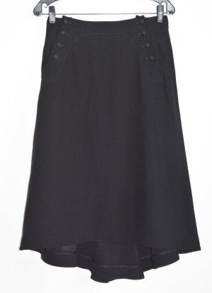 Alexander McQueen Asymmetry Skirt black mixture fibre