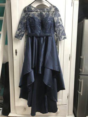 Asymetrisches Abendkleid dunkelblau 34/36 ungetragen