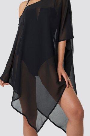 Asymmetric Bottom Beach Dress Hannalicious x NA-KD, Black