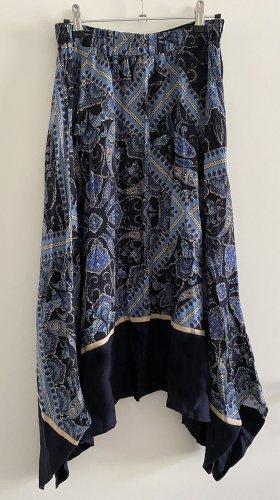 H&M Asymmetry Skirt multicolored viscose