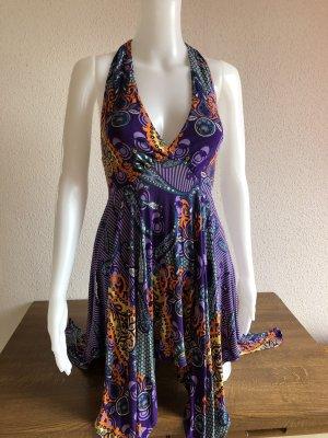 Asymmetrisch Rückenfreies Kleid zum Schnüren