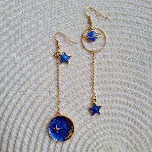 Glitz & Glam Boucle d'oreille incrustée de pierres doré-bleu