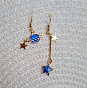 Glitz & Glam Orecchino a pendente oro-blu