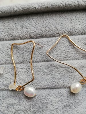 Pearl Earring gold-colored-natural white