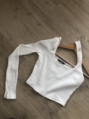 SheIn One Shoulder Top natural white