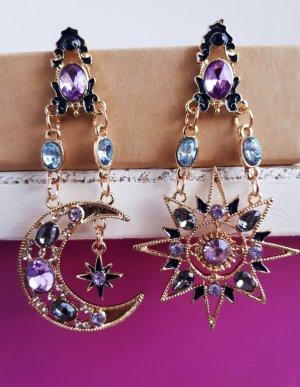 Asymmetrische Vintage Ohrringe in Gold ungetragen