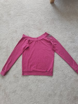 Guess Crewneck Sweater raspberry-red-purple