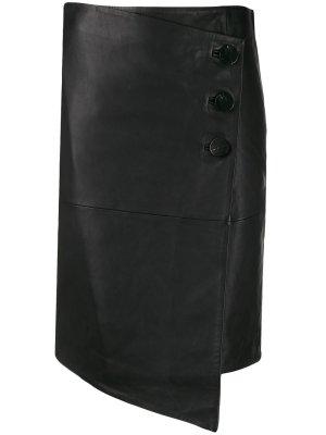 Ba&sh Skórzana spódnica czarny