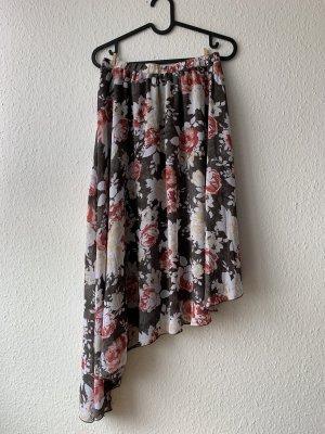 JustFab Asymmetry Skirt multicolored